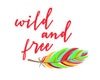 Wild and Free Feather Printable Art - These Bare Walls - 4