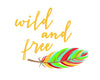 Wild and Free Feather Printable Art - These Bare Walls - 5