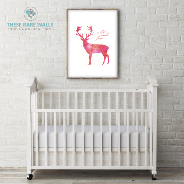 Deer Wild and Free Printable Art - These Bare Walls - 1