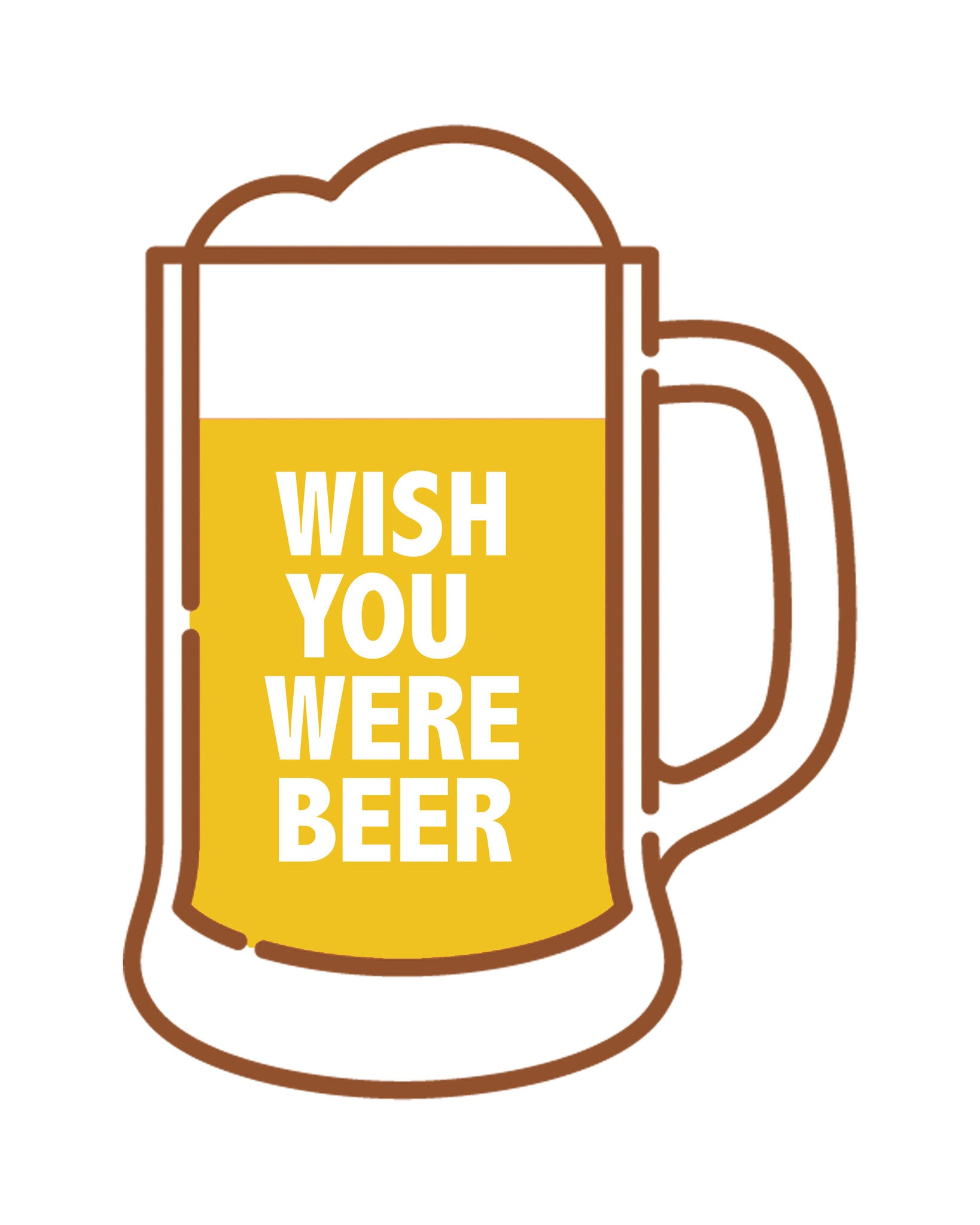 Wish You Were Beer Printable Art - These Bare Walls