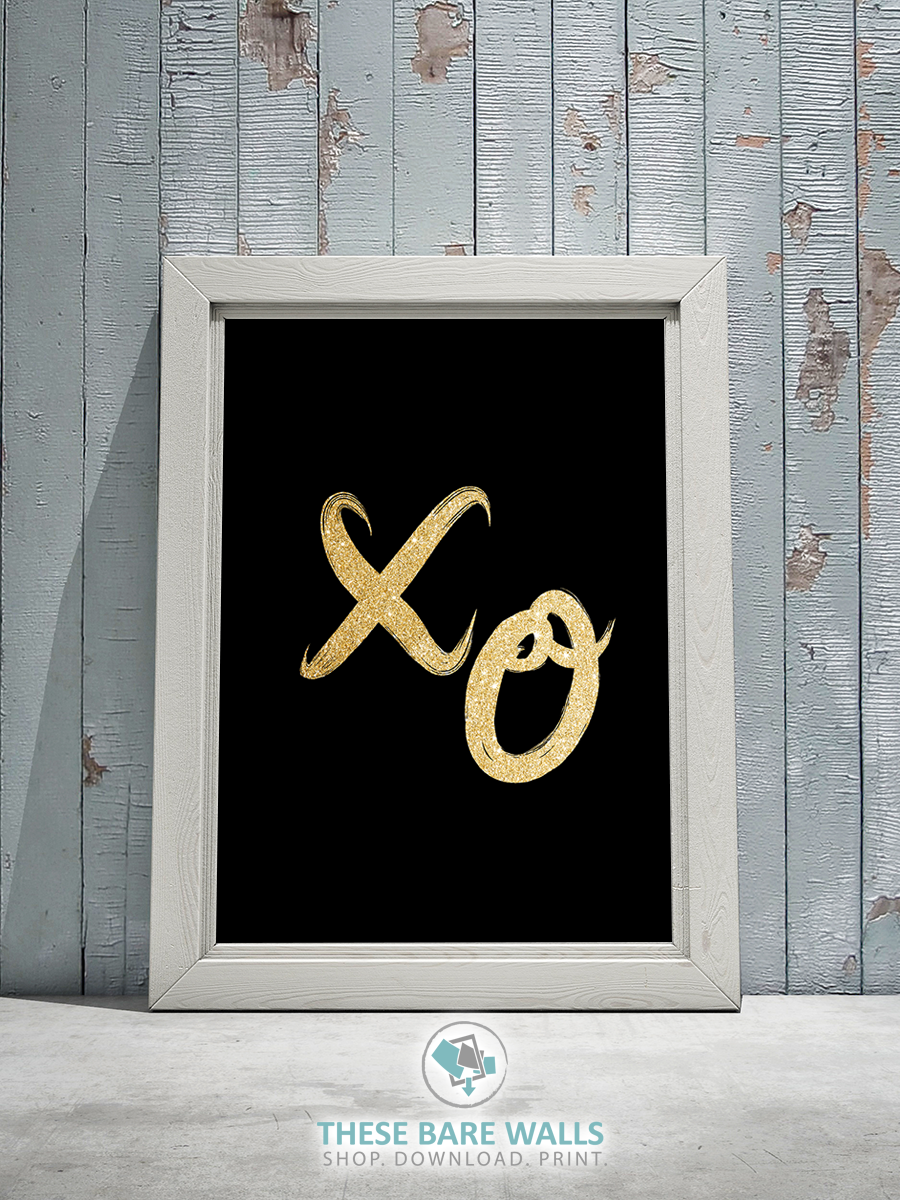 XO's Printable Wall Art - Series 2 - These Bare Walls - 1