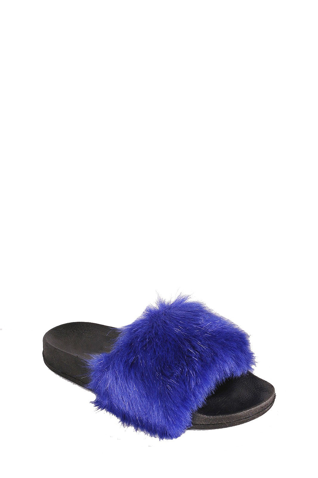 CherryMad Cape Robin Moira-5 Blue Women Flip Flop Fur Slide Slip On Flats Sandals Shoe Slipper Furry …