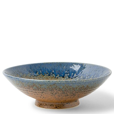 "Aoi Nagashi Japanese 9.5"" Ceramic Serving Bowl"