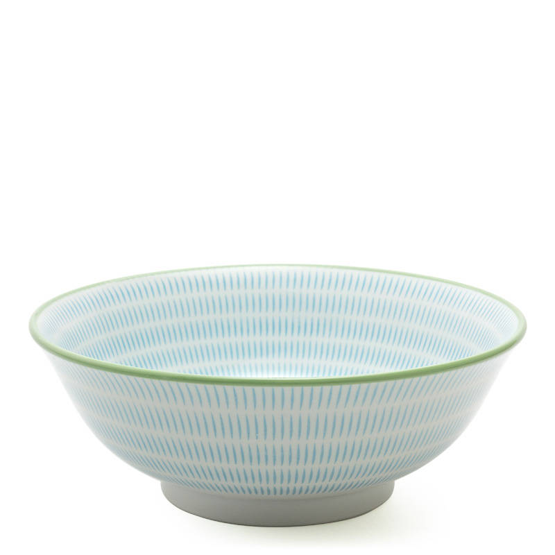 Japanese Sendan Aqua Blue Bowl 7.75""