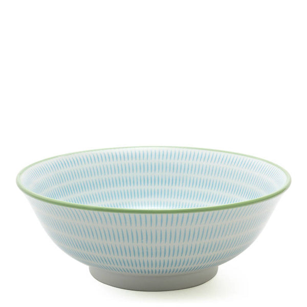 Japanese Aqua Blue Sendan Bowl 7.75""