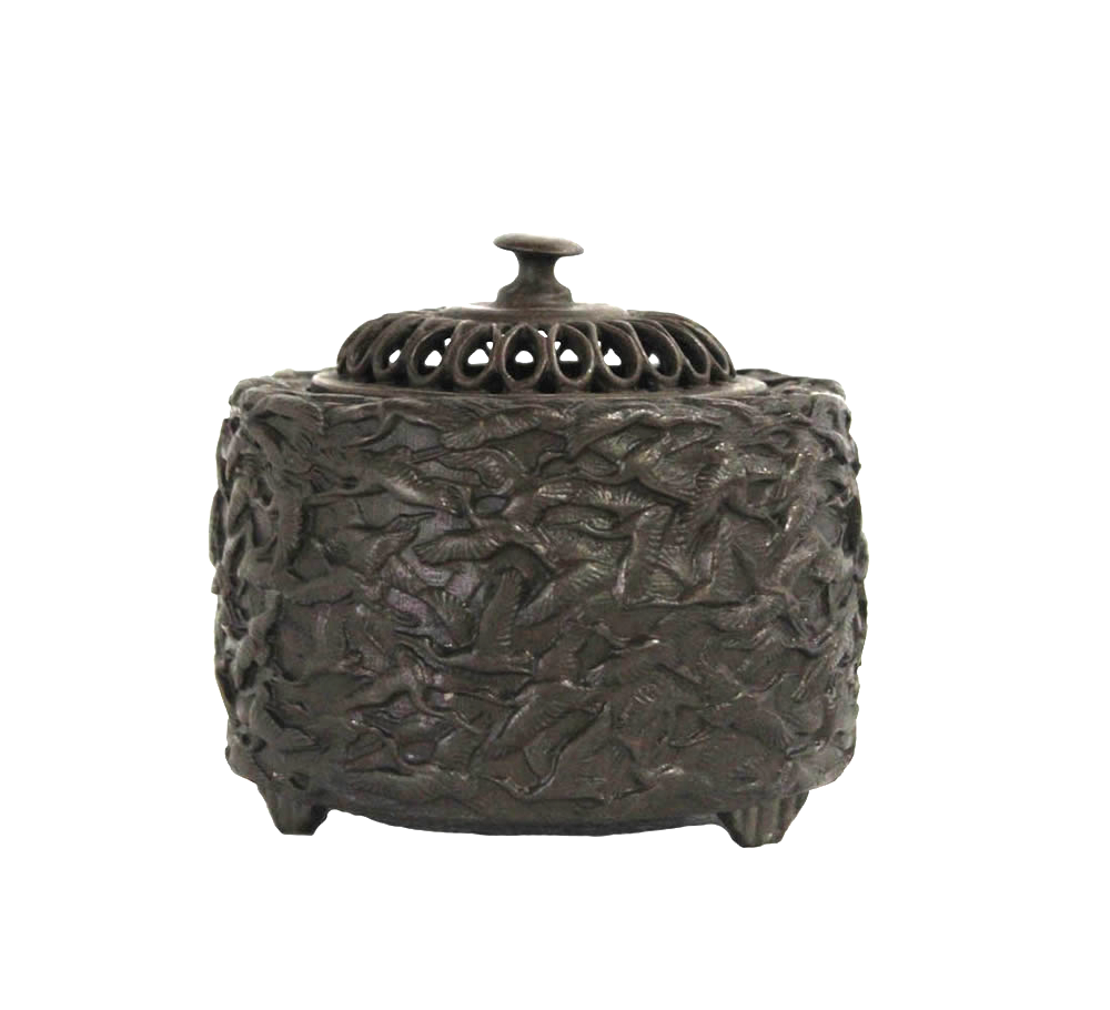 Bronze Crane Incense Burner