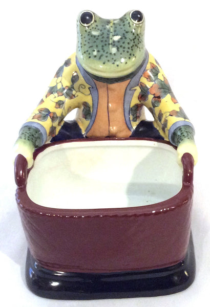 Whimsical Frog Holding a Dish