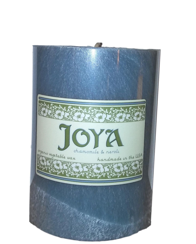 "Joya 3""x4"" Organic Vegetable Wax Pillar Candles"