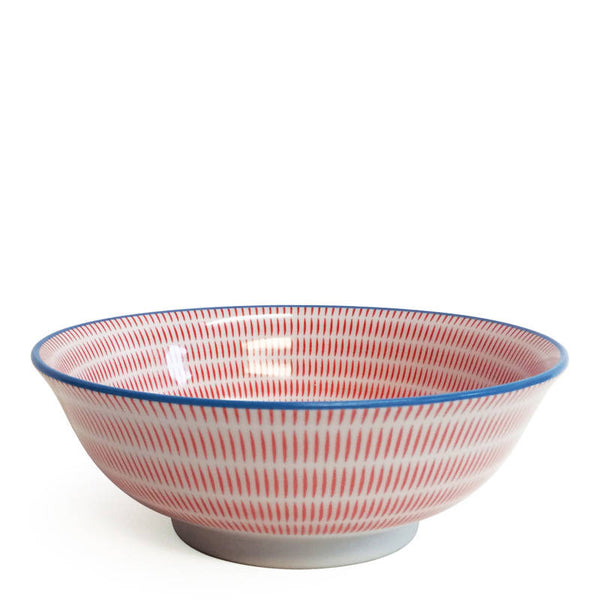 Japanese Poppy Red Sendan Bowl  7.75""