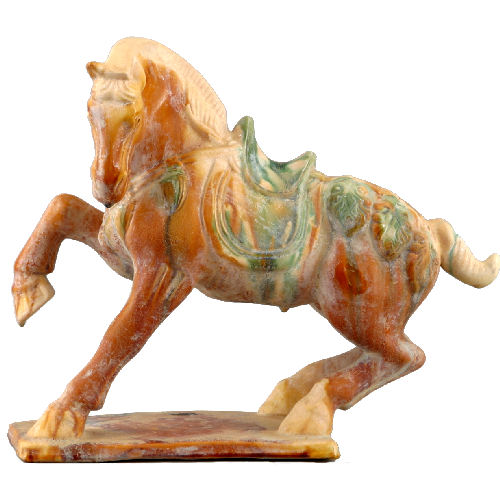 Chinese Terra Cotta Tang Horse Statue 12 Inches Tall