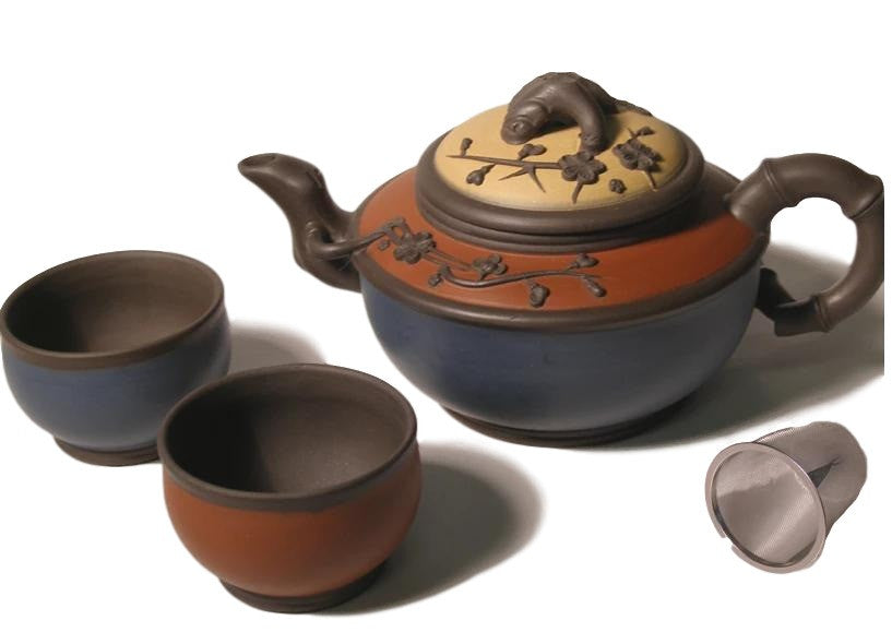 Tricolor Yixing Clay Tea Set