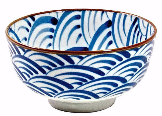 Japanese blue waves bowl 5.5""