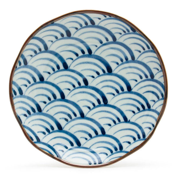 "9"" Japanese Blue Waves Plate"