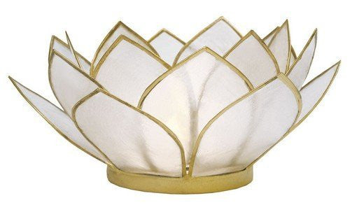 Natural Capiz Shell Lotus Tealight Holder