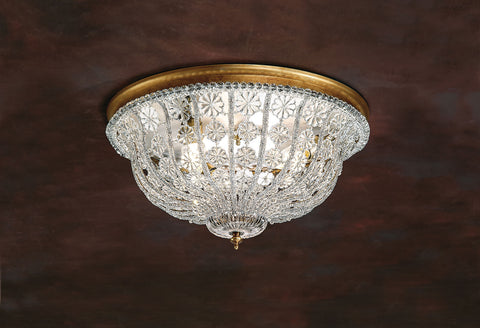 Decorative Crafts Brass & Crystal Ceiling Light 7529