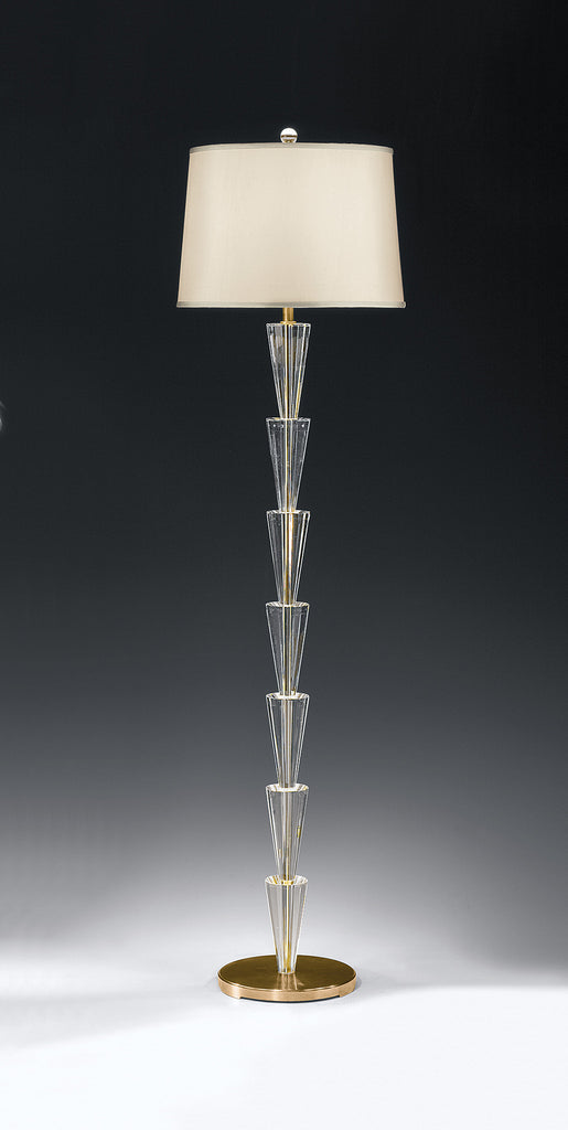 Decorative Crafts Brass & Crystal Floor Lamp 8072