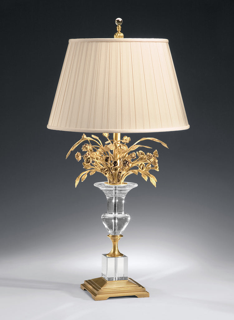 Decorative Crafts Brass & Crystal Lamp 8114