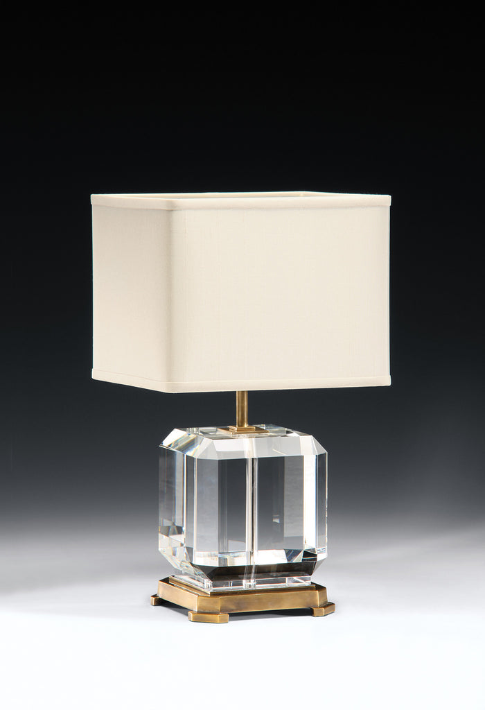 Decorative Crafts Brass & Crystal Lamp 8412