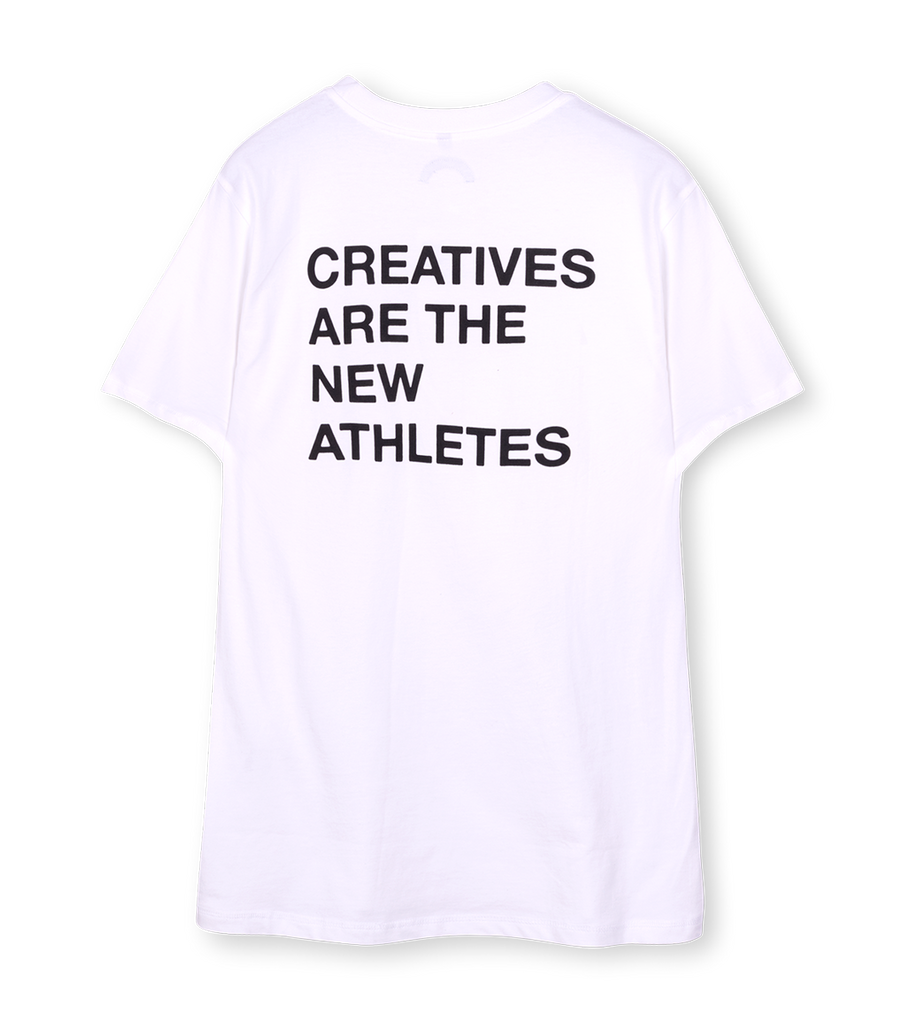 Creatives Are the New Athletes Tee White