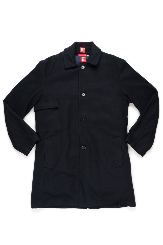 Tunica Wool Coat | Navy