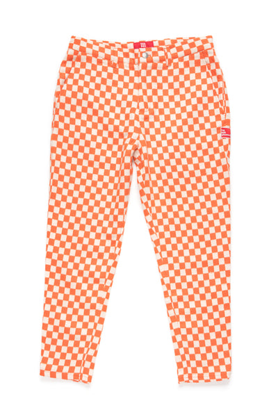 CUBI' WOOL Trousers | Orange/Vanilla