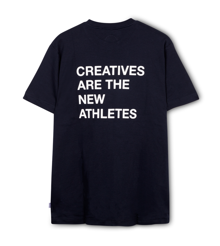 Creatives Are the New Athletes Tee Navy