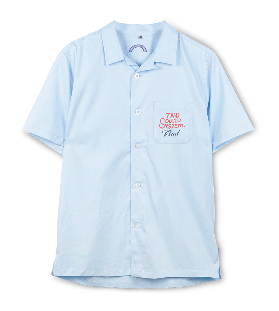 TNO x BUD 'Soundsystem' Button Shirt Sky-Blue