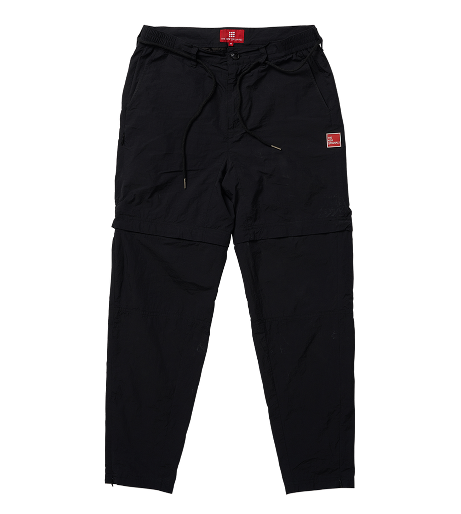 Parachute Nylon Trousers Black