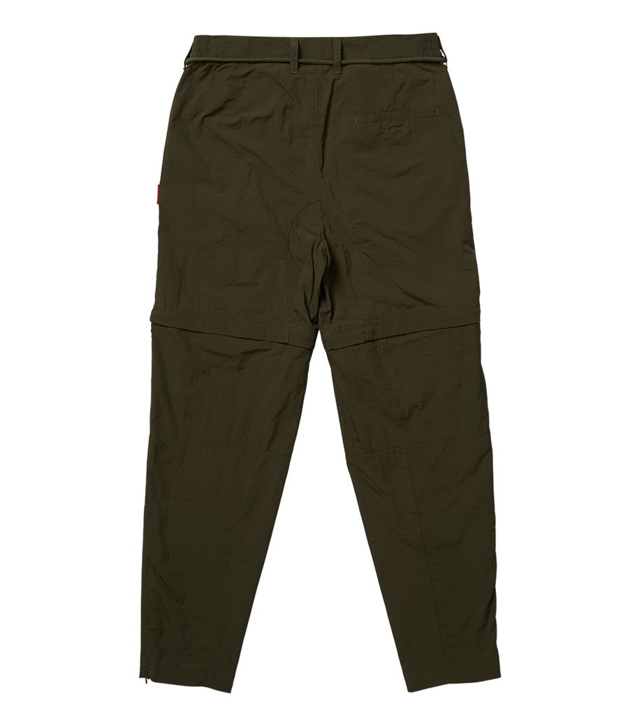 Parachute Nylon Trousers Dark Green