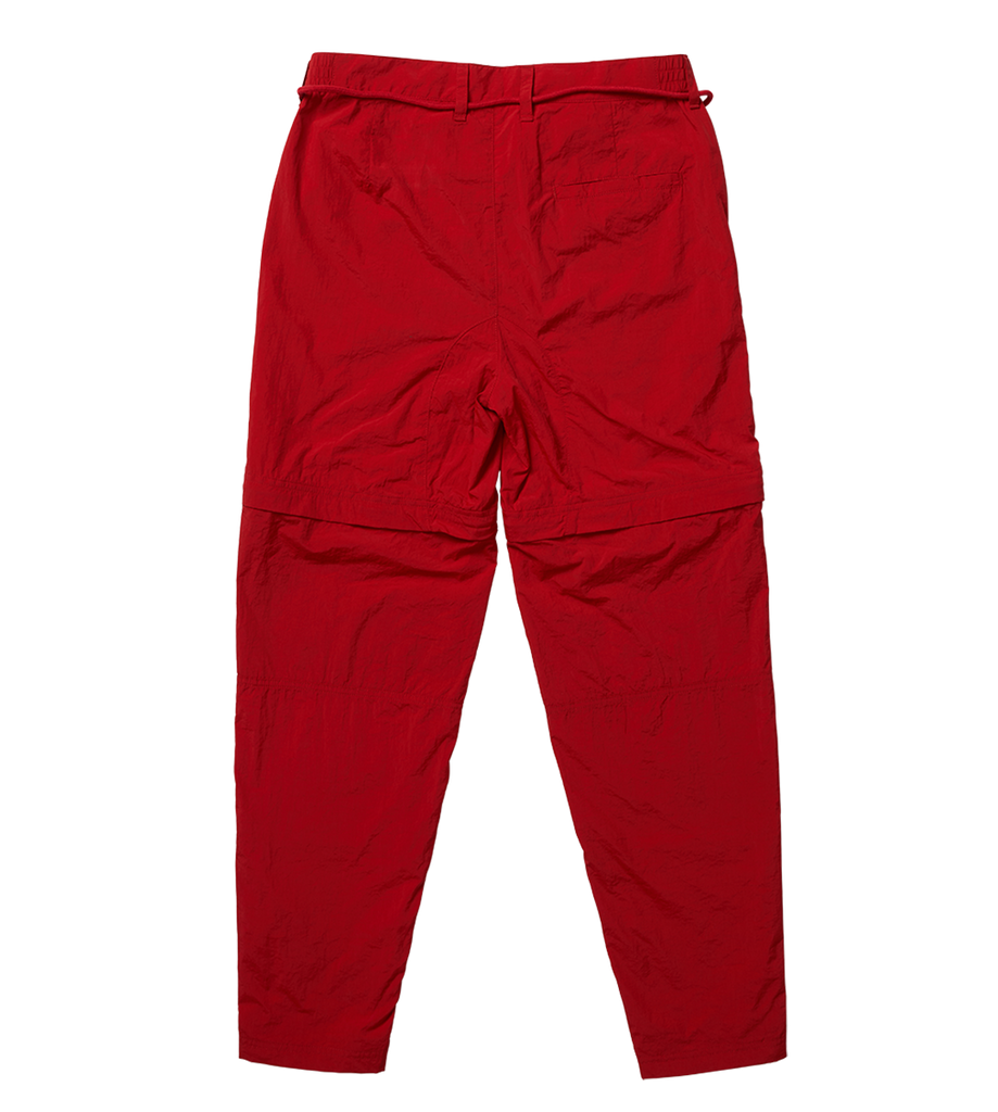 Parachute Nylon Trousers Red