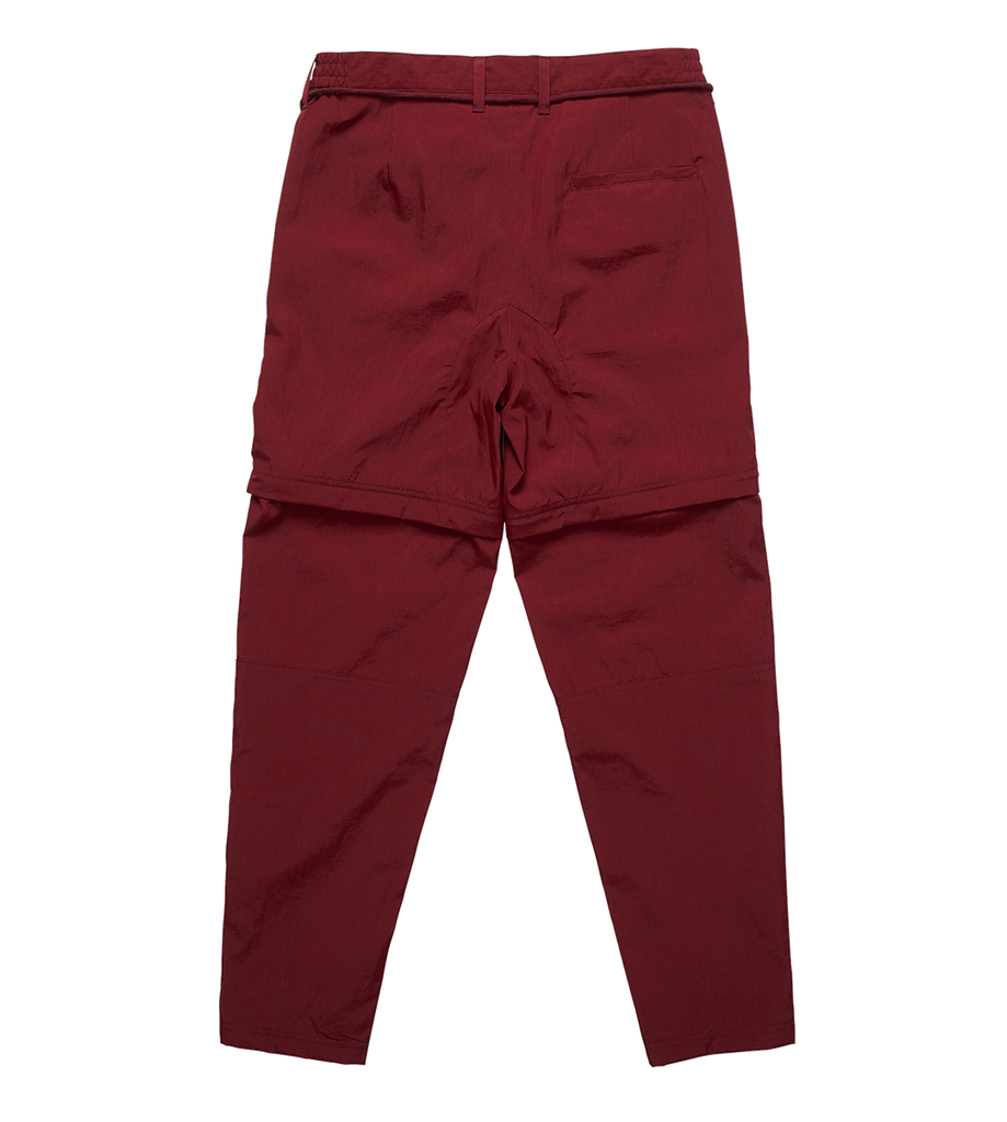 Parachute Nylon Trousers Burgundy