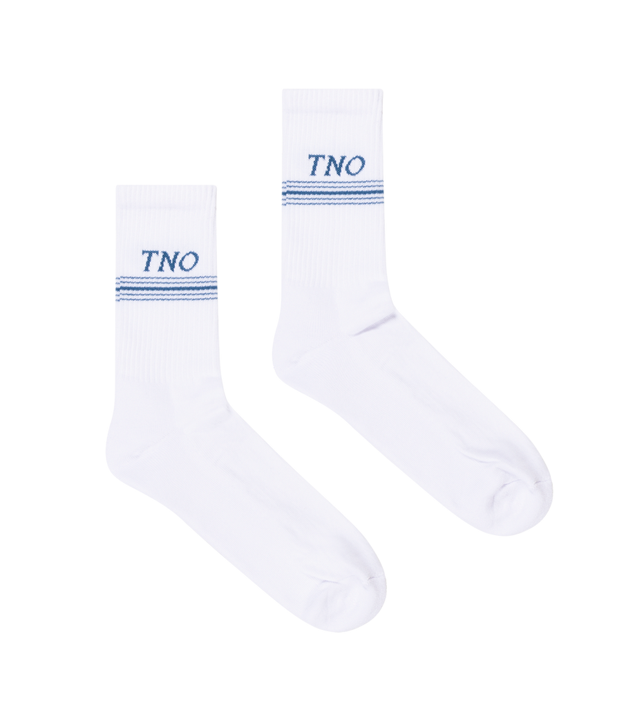Underline Socks White/Blue