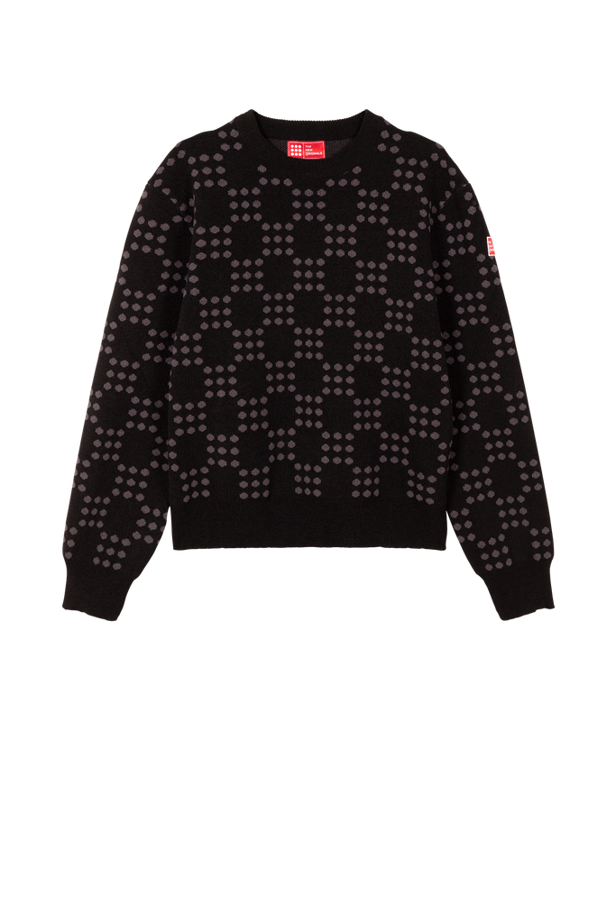 Dots On Dots Sweater Black