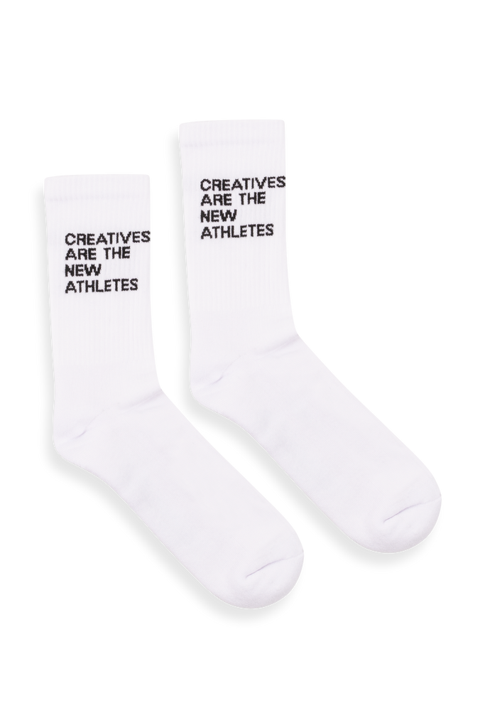 Creatives Are The New Athletes Socks White