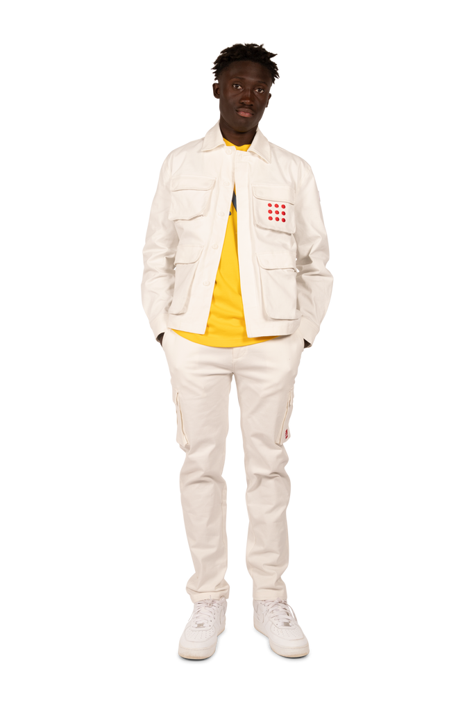 Multi Pocket Jacket White/Red