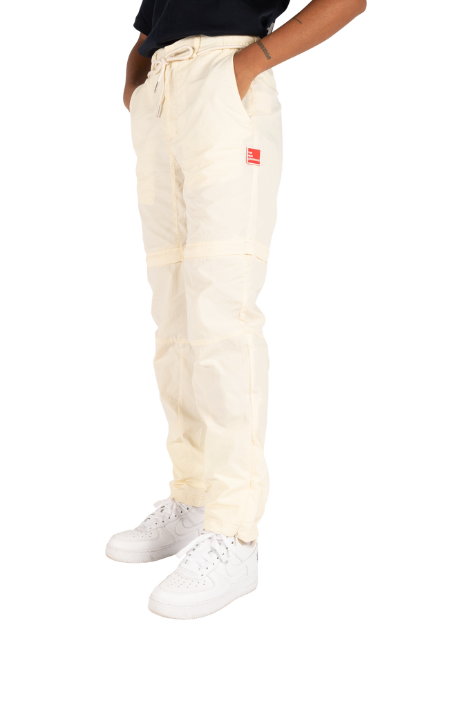 Parachute Nylon Trousers Off White