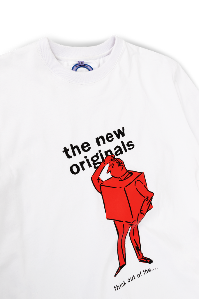 'Think Out Of the Box' Tee White/Red