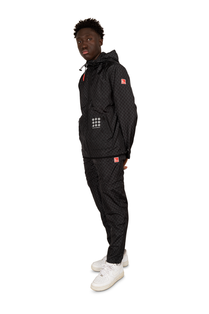 Dots On Dots Running Jacket Black