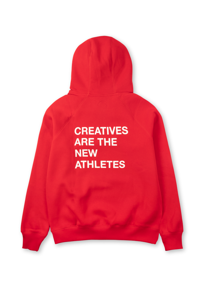 Creatives Are The New Athletes Hoodie Red