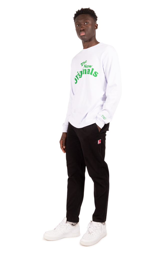 Workman Longsleeve White/Green