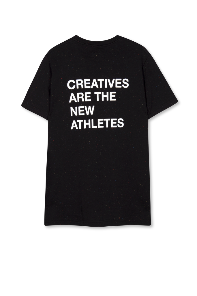 Creatives Are The New Athletes Tee Speckled Print Black