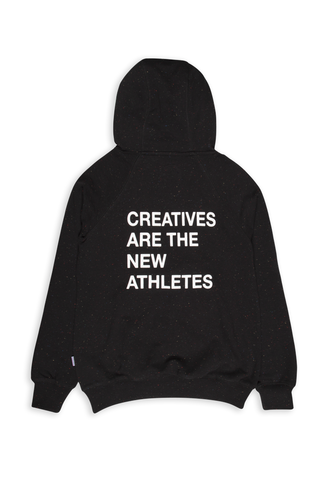 Creatives Are The New Athletes Hoodie Speckled Print Black