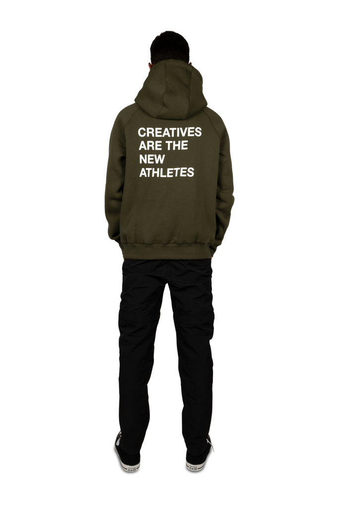 Creatives Are The New Athletes Hoodie Dark Green