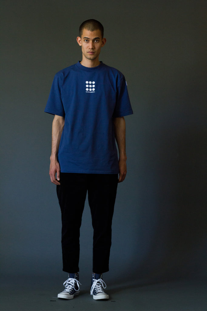 9-DOTS Tee Navy/White