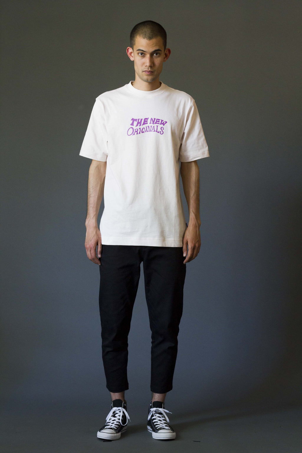 TNO SHAKEY Tee | Light Peach/Purple