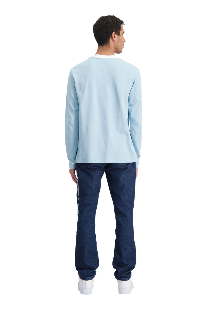 Workman Longsleeve Blue/White