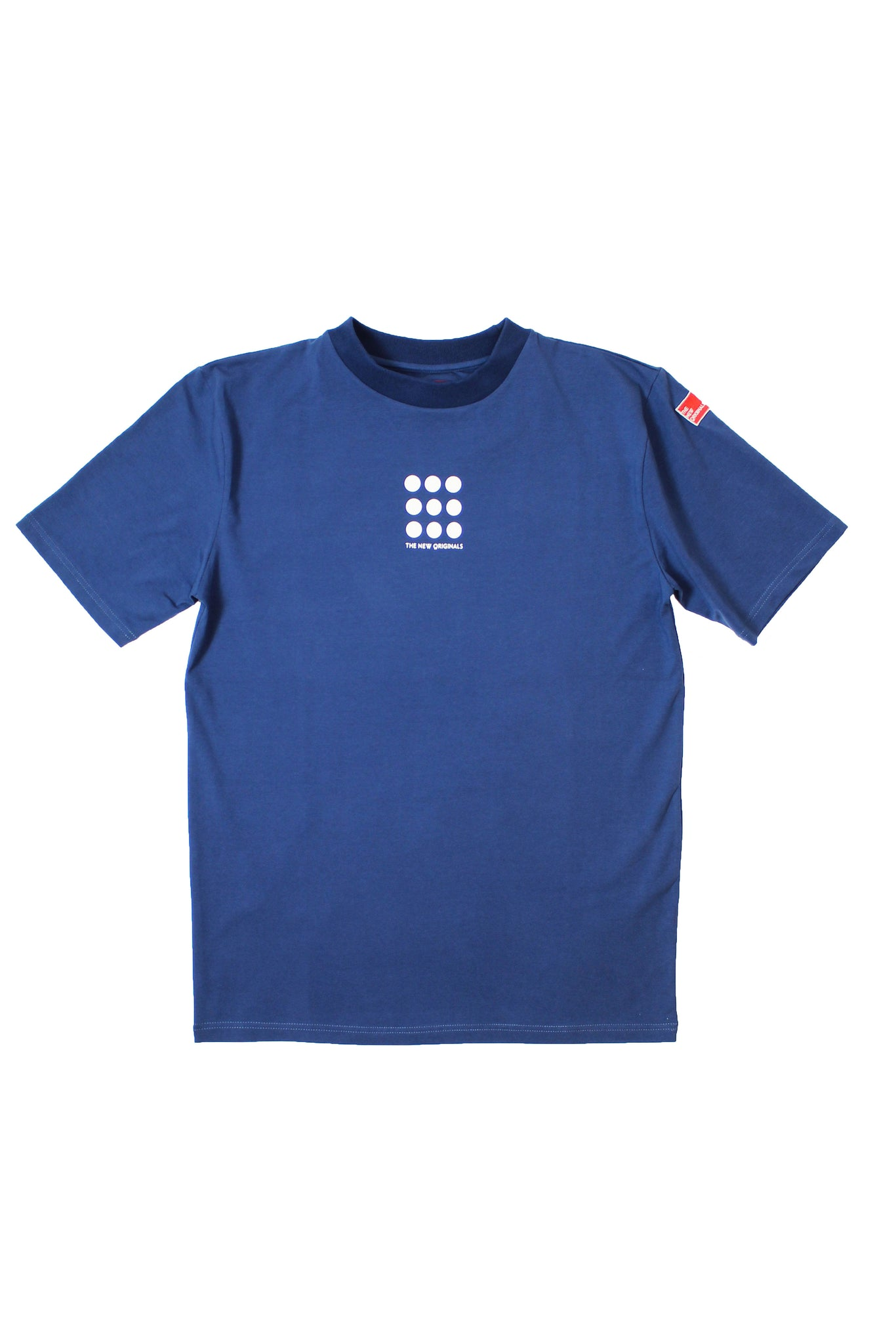 9-DOTS Tee | Navy/White