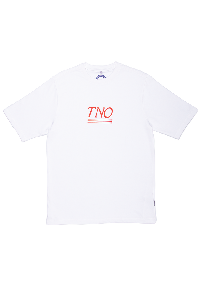 TNO Underline Tee | White / Red