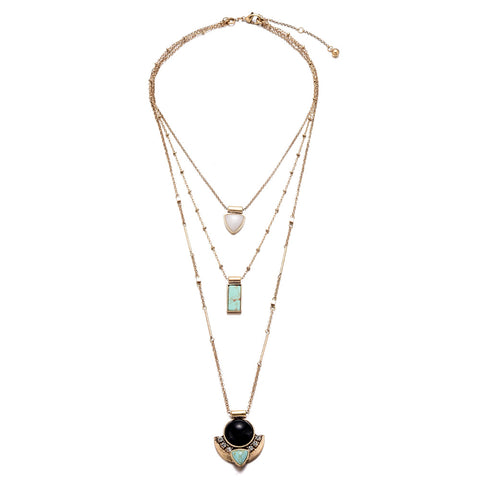 Three Layer Pendant Necklace