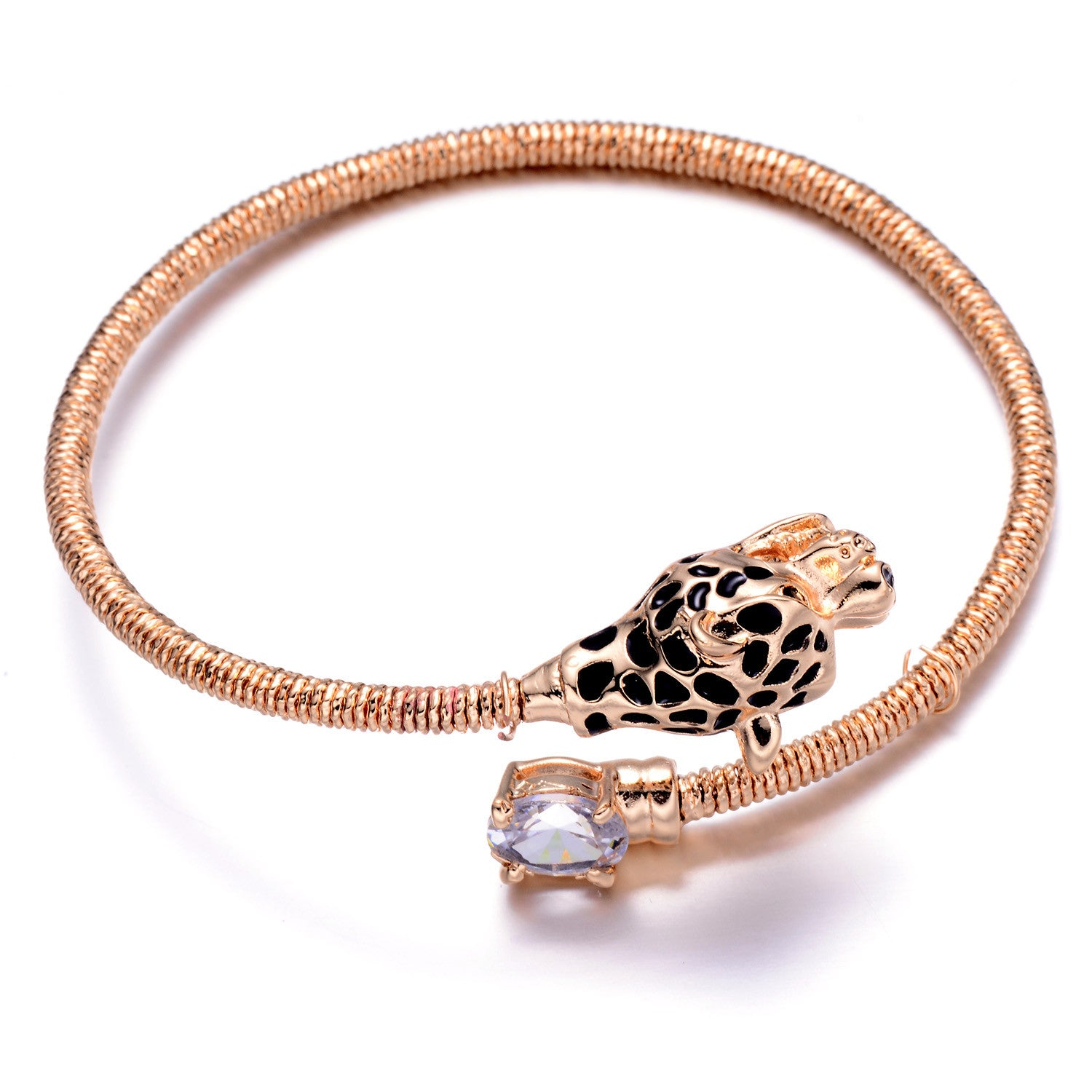 pack bangles crystal centre with cubic bracelet double plated rose bracelets stones two gold row and piece of circular